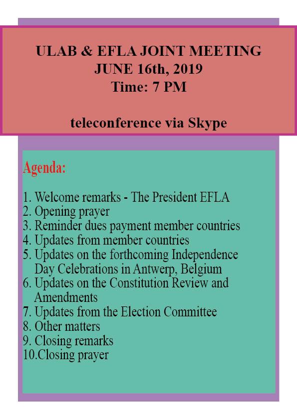 MEETINGS – LIBERIANS IN EUROPE